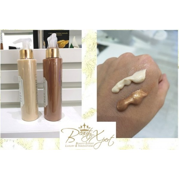 Beauty Expert Златен Блестящ Флуид за тяло Дарк 150ml
