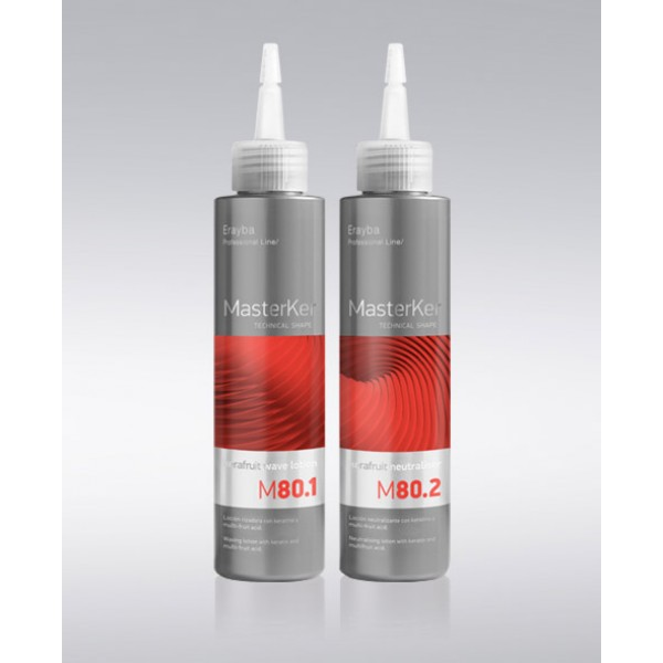 ERAYBA M80 Система за къдрене /за третирана коса/ 2х150мл