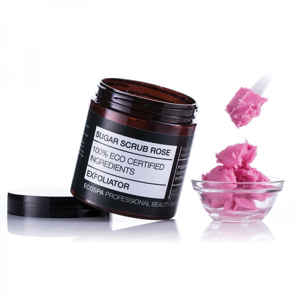 EcoSpa Захарен скраб за лице и тяло с Роза 250ml